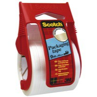3M Scotch Packaging Tape Reinforced Easy Start 50mm x9 Metres Clear X.5009D