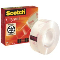 3M Scotch Crystal Clear Tape 19mm x33 Metres 600