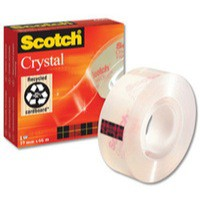 Image for 3M Scotch Crystal Clear Tape 19mm x66 Metres 600