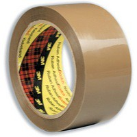 3M Scotch Low-Noise Buff/Brown Packaging Tape 48mm x66 Metres 3120B4866 (195692)