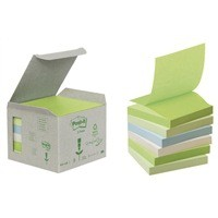 3M Post-it Note Recycled Z-Note 76x76mm Pastel Rainbow R330-1GB