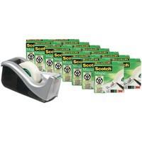 3M Scotch Magic Tape 810 Value Pack with FOC Dispenser + 16 Rolls