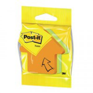 3M Post-it Diecut Cube Arrow 225 Neon Rainbow 3M34983