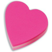 Image for 3M Post-it Diecut Cube Heart Pink 225 Sheets 2007H