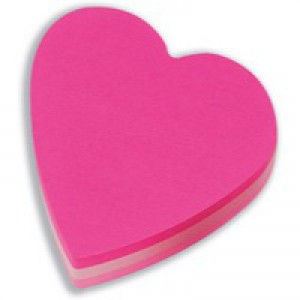 3M Post-it Diecut Cube Heart Pink 225 Sheets 2007H