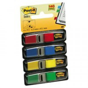 3M Post-it Index Refill Standard 4 Colours 683-4