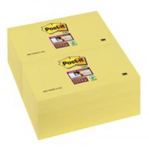 3M Post-it Super Sticky Note Canary Yellow 76x127mm 655-12SSCY