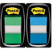 3M Post-it Index 1 inch Dual Pack Green/Blue 680-GB2