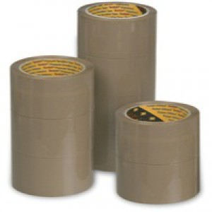 3M Scotch Packaging Tape Polypropylene 50mm x66m Buff Pk 6 C5066SF6