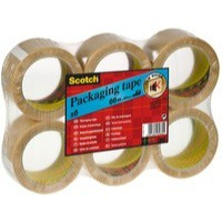 3M Scotch Packaging Tape PVC 50mm x66Metres Clear PVC5066F6 T