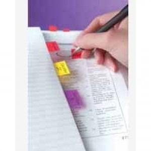 3M Post-it Index Tab 25mm Red With Dispenser (Pk 50) 680-1