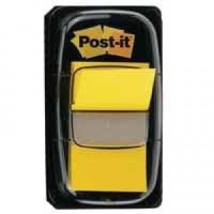 3M Post-it Index Tab 25mm Yellow With Dispenser (Pk 50) 680-5