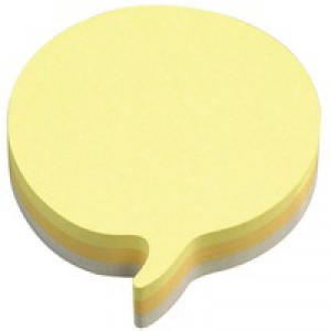 3M Post-it Diecut Cube Speech Bubble 225 Sheets Yellow 3M37917