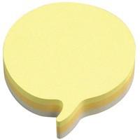 3M Post-it Diecut Cube Speech Bubble 225 Sheets Yellow 3M37917