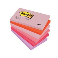 3M Post-it Note Warm Pastel Rainbow Pack of 12 76x127mm 655FL