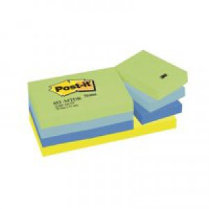3M Post-it Note Dreamy Colours Rainbow Pack of 12 38x51mm 653MT