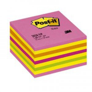 3M Post-it Neon Cube 76x76mm Pink 2028NP