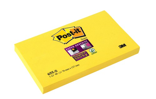 Post-it SuperSticky 76x127Yell 655S