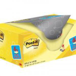 Post-It+ Canary? Yellow Notes 38x51mm Value Pack 653CY-VP20