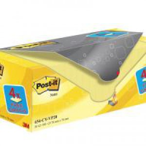 Post-It? Canary? Yellow Notes 76x76mm Value Pack 654CY-VP20