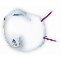 3M 8833 FFP3 Unvalved Cup Disposable Respirator Pack of 10 70071276391