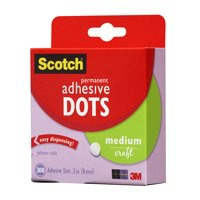 3M Scotch Permanent Adhesive Dots Medium Clear 010-300M