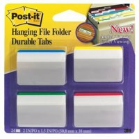 3M Post-it Durable Hanging File Tab Angled Pack of 24 686-A1