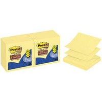 3M Post-it Super Sticky Z-Note 76x76mm Yellow R330-12SSCY