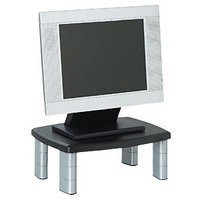 3M Adjustable Monitor Support Stand Black/Silver MS80
