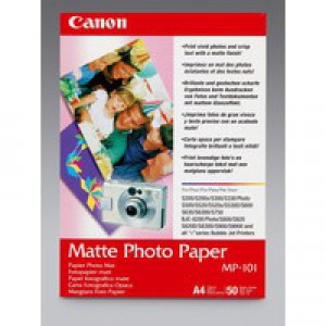 Canon A4 Matte MP-101 Photo Paper Pk50