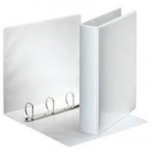Esselte Presentation Ring Binder Polypropylene 4 D-Ring 25mm A4 White Ref 49702 [Pack 10]