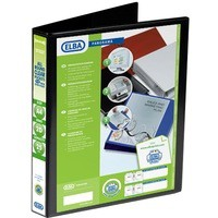 Elba Presentation Ring Binder PVC 2 D-Ring 25mm Capacity A4 Black Ref 400008411 [Pack 6]