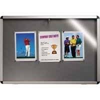 Nobo Display Cabinet Noticeboard Visual Insert Lockable A1 W907xH661mm Grey Ref 31333500