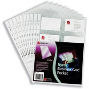 Rexel Nyrex Presentation Pocket Grey Strip Easy-update Top and Side-opening A4 Clear Ref 13682 [Pack 25]