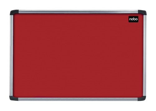 Nobo Euro Plus Noticeboard Felt with Fixings and Aluminium Frame W1226xH918mm Burgundy Ref 30125