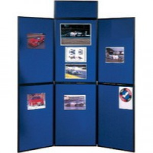 Nobo Showboard 3 Panel Display System Kit Blue/Black Code 1900044