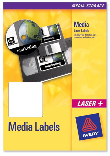 Avery Media Labels Inkjet 35mm Film Slides 46x11.11mm Ref J8657-25 [1050 Labels]