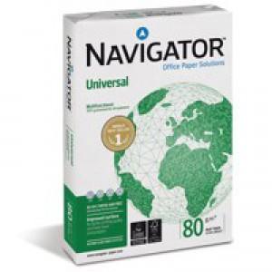 Navigator Universal Paper A4 80gsm White 5 Reams NAVA480