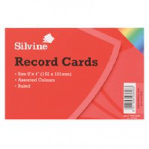Record Card Smooth 152x102mm Assorted Ref 16199 [Pack 100]