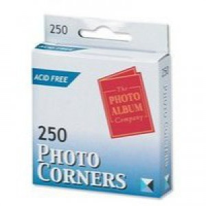 Photo Album Corners White Pk250 PC250
