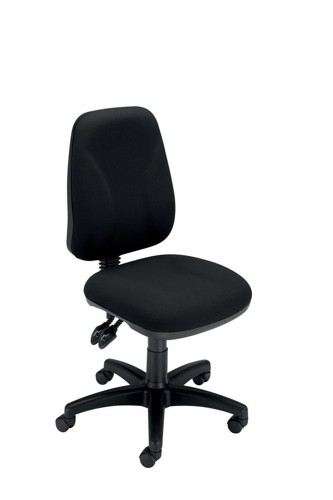 Trexus Intro Operators Chair Asynchronous High Back H490mm Seat W490xD450xH440-560mm Black