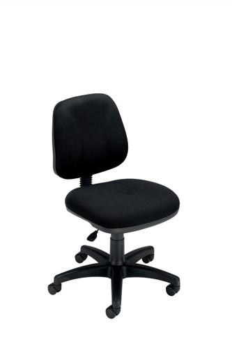 Trexus Intro Operators Chair Fixed Medium Back H390mm Seat W490xD450xH430-540mm Black