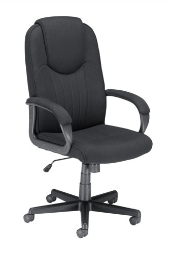Trexus Intro Managers Armchair High Back 690mm Seat W520xD470xH440-540mm Black