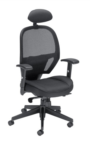 Influx Amaze Chair Synchronous with Head Rest Mesh Seat W520xD520xH470-600mm Black Ref 11186-01Blk