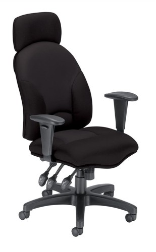 Influx Energize Aviator Armchair Seat W540xD450xH490-590mm Black Ref 11199-01Blk
