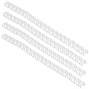 GBC Binding Wire Elements 34 Loop for 100 Sheets 11mm A4 White Ref RG810770 [Pack 100]