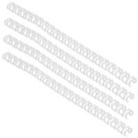 GBC Binding Wire Elements A4 8mm 34-Loop Wires 3:1 Pitch White Pack of 100 RG810570