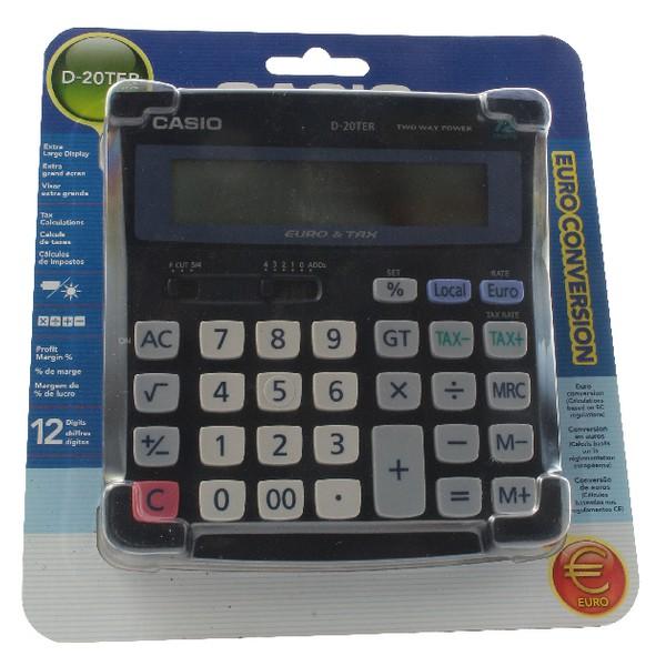 Casio Desktop Calculator Euro Battery Solar-power 12 Digit 3 Key Memory
