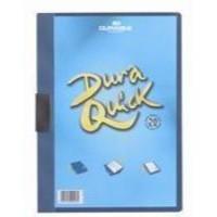 Durable Duraquick Clip Folder PVC Clear Front A4 Blue Ref 2270/06 [Pack 20]