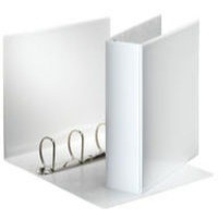 Esselte Presentation Ring Binder Polypropylene 4 D-Ring 60mm A4 White Ref 49706